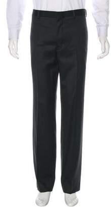 Black Fleece Wool Dress Pants