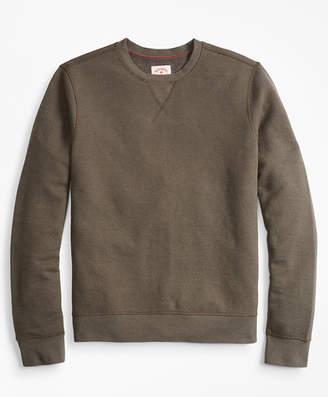 Brooks Brothers Textured Stripe Crewneck Sweatshirt