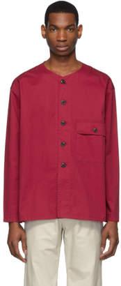Lemaire Red V-Neck Shirt