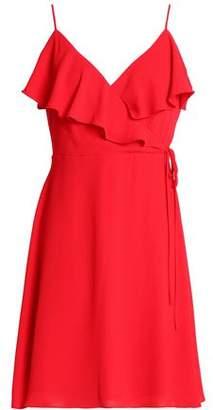Bailey 44 Wrap-Effect Ruffle-Trimmed Crepe Mini Dress
