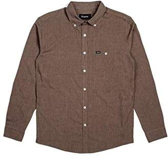 Brixton Men's Central Tailored Fit Long Sleeve Button Down Woven Shirt