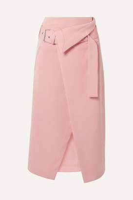3.1 Phillip Lim Belted Asymmetric Twill Wrap Skirt - Pink