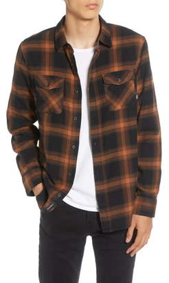 Vans Monterey III Classic Fit Plaid Button-Up Flannel Shirt