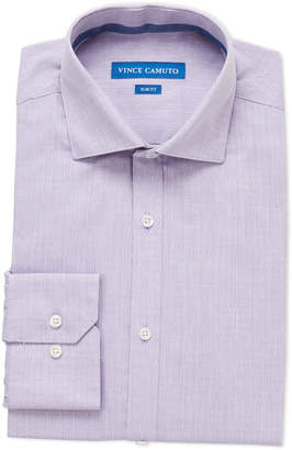 Vince Camuto Bright Purple Dobby Slim Fit Dress Shirt