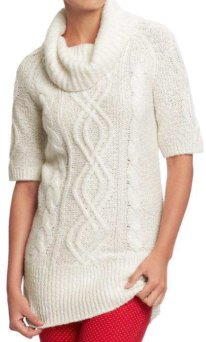 Old Navy Women's Cowl Cable-Knit Tunic Sweaters