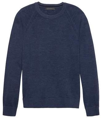 Banana Republic Heathered Cotton Crew-Neck Sweater