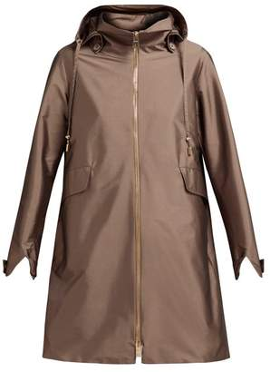 Herno Drawstring Waist Hooded Coat - Womens - Bronze