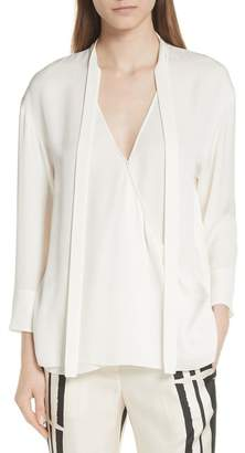 1715877805472d Theory Ivory Silk Blouse - ShopStyle