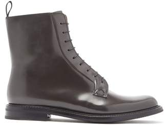 Church's Alexandra Patent Leather Boots - Womens - Dark Grey