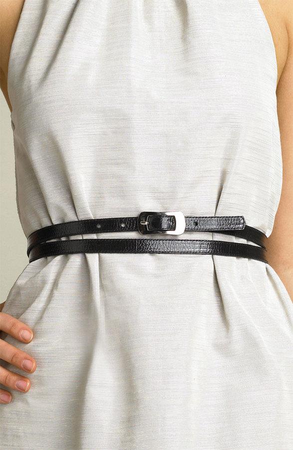 Leatherock Skinny Double Wrap Belt