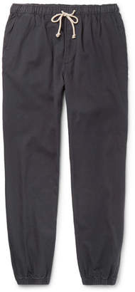 Mollusk Jeffrey Tapered Cotton-Twill Drawstring Trousers