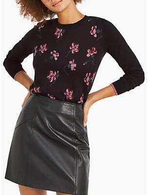 Oasis Olivia May Floral Jumper, Multi Black