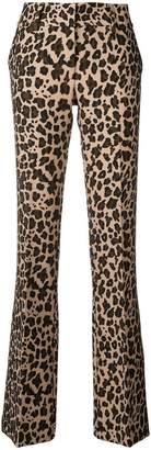 P.A.R.O.S.H. printed flare leg trousers