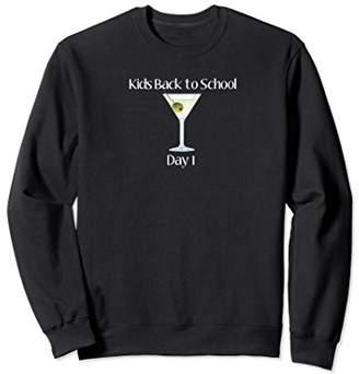 Funny Back to School Mom Dad alcohol Sweatshirt