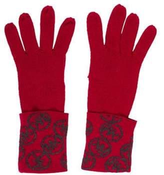 MICHAEL Michael Kors Logo Knit Gloves Magenta Logo Knit Gloves