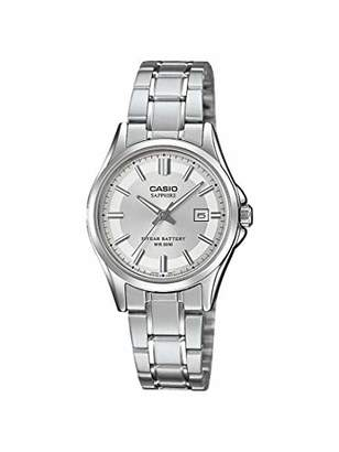0a5e9db16541e5 at Amazon.co.uk · Casio Womens Analogue Quartz Watch with Stainless Steel  Strap LTS-100D-7AVEF