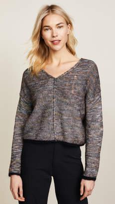 Raquel Allegra Square V Neck Sweater