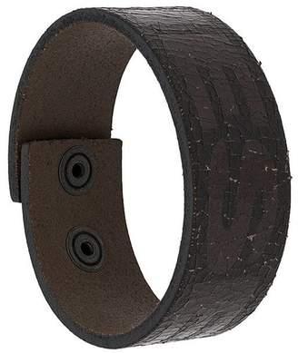 Diesel logo cuff bracelet