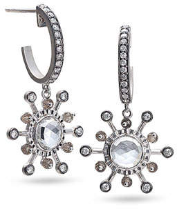Coomi Affinity Smoky Quartz & Diamond Earrings