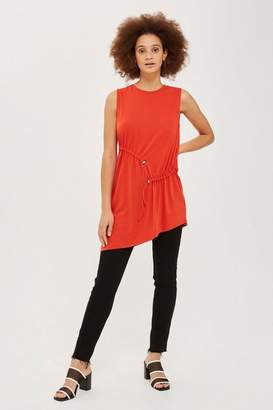 Topshop Sleeveless ruched tunic