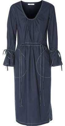 Derek Lam 10 Crosby Gathered Cotton-Poplin Midi Dress