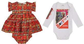 Burberry Dress, Bloomers and Bodysuit Set