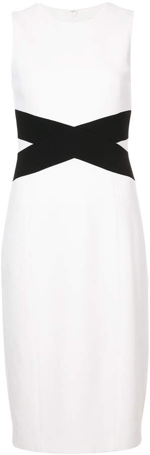 Michael Kors crossover detail pencil dress