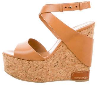Sergio RossiSergio Rossi Ankle-Wrap Wedge Sandals
