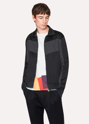 Paul Smith Men's Black Panelled Track Top