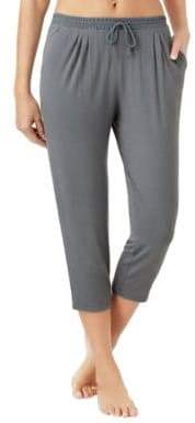 Halston H Jersey and Georgette Cropped Pyjama Pants