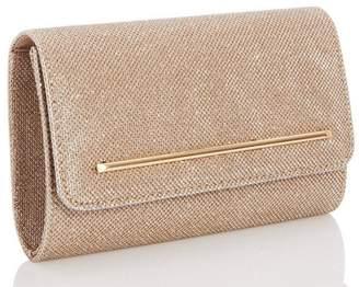Quiz Gold Glitter Rectangle Bag