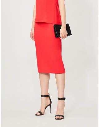 Roland Mouret Arreton high-waist wool-crepe pencil skirt