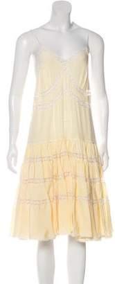 Rochas Silk Midi Dress w/ Tags