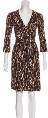 Diane von Furstenberg Animal Print Wrap Dress