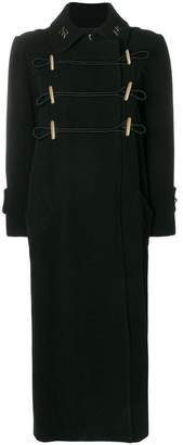 Nina Ricci long monogram collar coat