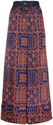 Sacai printed palazzo trousers