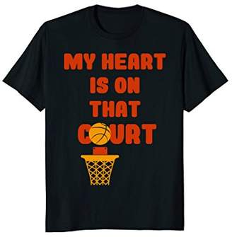 Heart On Court College Basketball Mom T-shirt