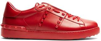 Valentino Open Rockstud low-top leather trainers