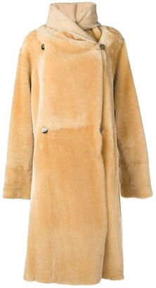 Liska Lisa long shearling coat