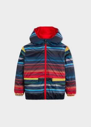 Boys' 2-6 Years Striped Reversible Zip Coat