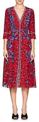 Saloni Women's Eve Floral Silk Midi-Dress