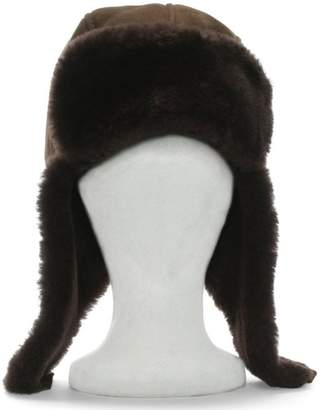 Australia Luxe Collective Co. Brown Double Faced Sheepskin Trapper Hat