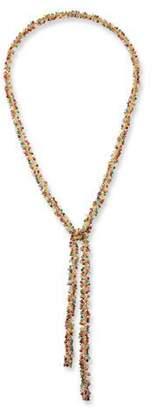 Margo Morrison Multi-Stone Cluster Lariat Necklace