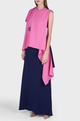 DELPOZO Long Crepe Skirt