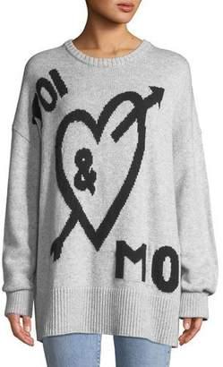 Cinq à Sept Tara You & Me Graphic Wool-Blend Pullover Sweater