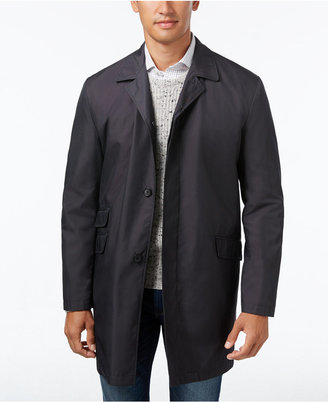 Kenneth Cole New York Men's Rosco Microdot Water Repellent Raincoat $350 thestylecure.com
