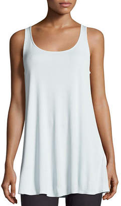 59920f37f4842e at Neiman Marcus · Eileen Fisher Scoop-Neck Stretch Silk Jersey Tunic