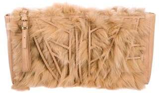 Herve Leger Fox Oversize Clutch