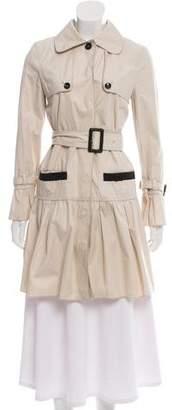 Dolce & Gabbana Ruffled Trench Coat