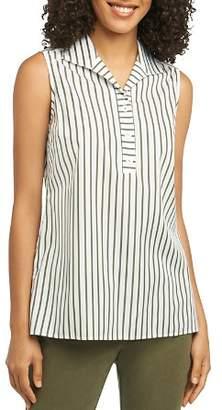 Foxcroft Dani Sleeveless Striped Cotton Top